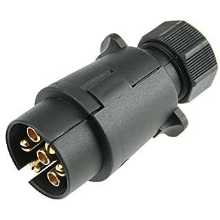 AS Schwabe 60462 12 V 7-Pin 7-Pole Heavy-Duty/Screw Terminal Car Trailer Plug - Black