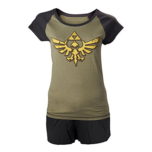 NINTENDO Legend of Zelda Oro Enlace Logo Shortama ropa de dormir Set (