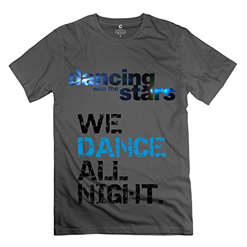 dancing-stars-o-neck-t-shirts-for-mens-x-small-deepheather