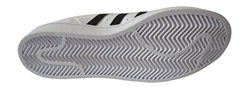 Adidas Superstar Foundation, Scarpe Da Ginnastica Unisex Bianco- Nera Striscia- Bianco Soletta