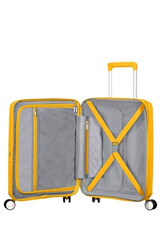 American Tourister - Soundbox Spinner Extensible, 55cm, 35,5/41 L - 2,6 KG, Jaune (Golden Yellow)