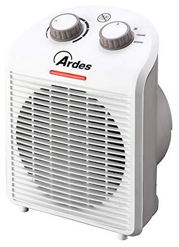 Ardes ar4f01n termoventilatore tepo design con 2 potenze, termostato temperatura, spia funzionamento e impugnatura posteriore