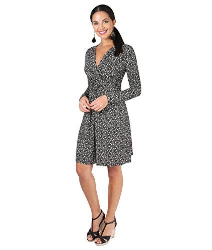 KRISP® Damen Knoten Kleid Langarm Gerafft Gebunden Sandstein (5284)