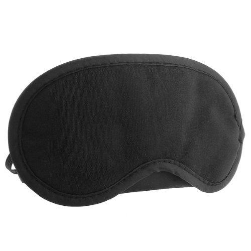 Schlafmaske Schlafbrille Augenmaske Augenbinde Reise Schwarz Nylon 18,5x9cm Mode