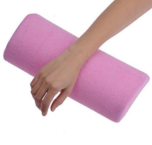Cojín de Uñas,Lomire Almohada de Manicura Reposa Brazo Descansa 13 X 28CM Suave Decoracion para Mujer, Rosa Claro