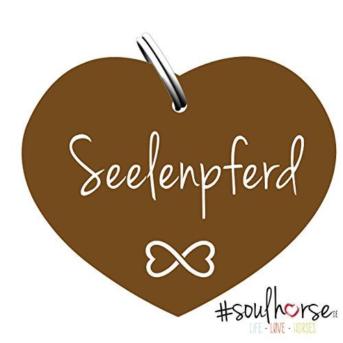 Pferde Glücksmarke #Seelenpferd Bronze – Gücksbringer - Soulhorse Anhänger Halfter, Trense, Zaumzeug, Sattel, Vorderzeug