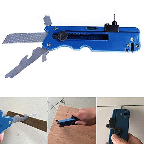 JERALD GATES 2 STÜCKE Professionelle Blaue Multifunktions Glas & Fliesenschneider Metall Schneidwerkzeug Messlineal Werkzeug Für Das Leben Zu Hause, 6x1,6 \'\'
