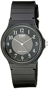 Casio Men's MQ24-1B3 Black Rubber Quartz Watch with Grey Dial