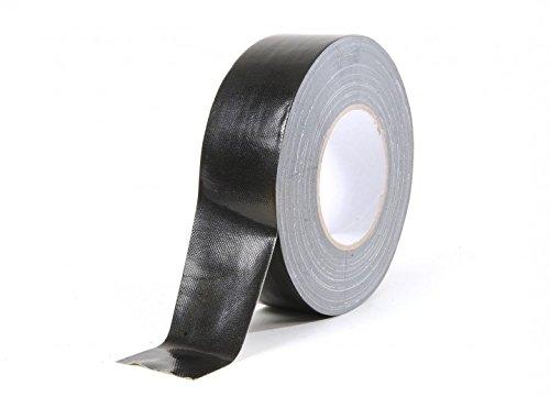 Gewebe-Klebeband schwarz, glänzend 50mm x 50m