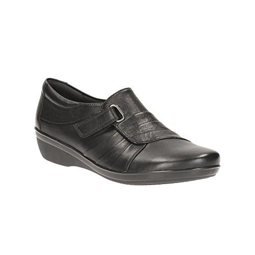 CLARKS Clarks Womens Shoe Everlay Luna Black Leather