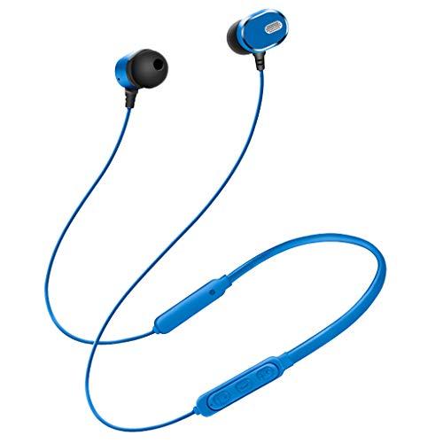 Bluetooth Kopfhörer, Tensay Neck-Mounted Sport-Funkkopfhörer In-Ear-Kopfhörer HIFI-Stereo-Kopfhörer mit starker Bassreduzierung Mit Mikrofon, magnetischen Ohrhörern für Training, Fitness und Reisen Handy Dual-hands Free Stereo