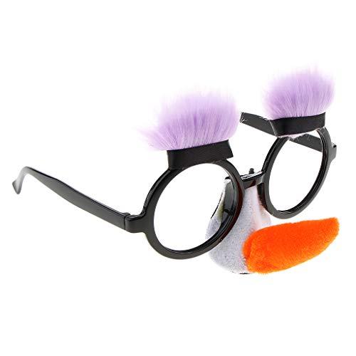 Baoblaze Neuheit Lange Nase Pinocchio Sonnenbrille Lustige Party Brille ()