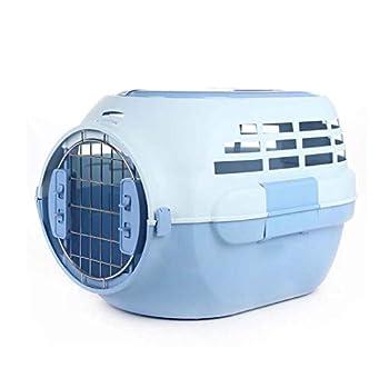 GLMAMK Transporteur sortant de Sac d'animal familier avec Le puits de lumière, boîte à air d'animal familier, Salon de griffoir de Chat Final de Chat portatif (Couleur : Bleu)