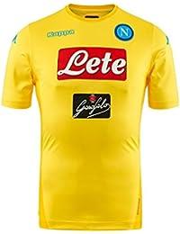 Kappa 2017 18 SSC Napoli Stadium away jersey Yellow 17 18 Naples 65b7258e0ea71