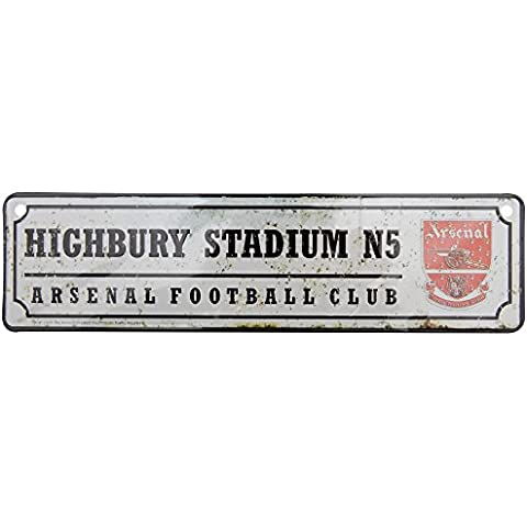 Arsenal Fc Retro rodillera muestra del Metal Highbury estadio N5