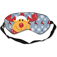 Natural Silk Eyes Mask Sleep Merry Christmas Deer Blindfold Eyeshade with Adjustable for Travel,Nap,Meditation... - preisvergleich
