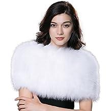 URSFUR Capote espesa de mujeres piel y pelo de zorro cálido en invierno otoño suave moda