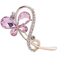 doitsa 1pcs Mujer Joyas Broche brillantes Brooch mujeres Fantasía Ropa Accesorios broche alfiler para mujer/niña Size 3* 5cm (rosa)