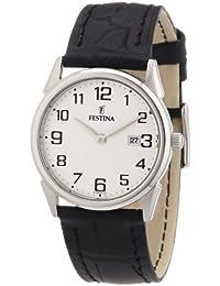 Festina F16519/1 - Reloj analógico de cuarzo para mujer con correa de piel, color negro