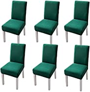 HALAMODO Chair Cover, Stretch Dining Chair Covers High Back Chair Protective Cover Slipcover, Elastic Chair Pr
