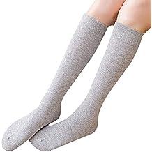 Cosanter Mujer Niñas Calcetines Largos Calcetines hasta la rodilla de algodón ...