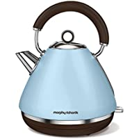 Morphy Richards Retro Accents 1.5L 2200W Azul - Tetera eléctrica (1,5 L, Azul, Aluminio, China, 2200 W, Corriente alterna)