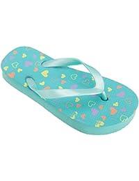 FLOSO - Sandalias/ chanclas con estampado de corazones para niñas