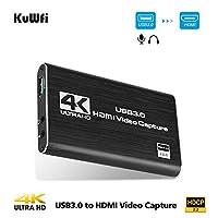 كابل HDMI عالي الجودة من كوفي 4K/30Hz إلى USB3.0 مدخل HDMI عالي الدقة 1080P مخرج HDMI لعبة تسجيل فيديو في صندوق ربط لإذاعة تسجيل الفيديو