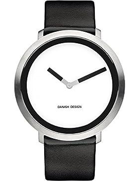 Danish Design Damen-Armbanduhr Analog Leder Schwarz DZ120265