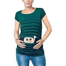 65575b05e Amazon.es  Camisetas Premama Divertidas - Verde