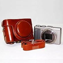 First2savvv XJPT-HX60-09 Funda Cámara cuero de la PU cámara digital bolsa caso cubierta con correa para Sony DSC HX60 HX50 HX30 marrón