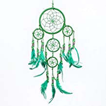 Traumfänger Dreamcatcher Lila Pink Silber Netz 70cm x 21cm 5 Ringe ca