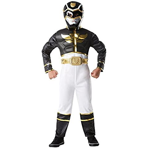 Saban - I-886670m - Disfraces para Niños - Set Luxe 3d Eva Black Power Rangers Mega Force - Talla M