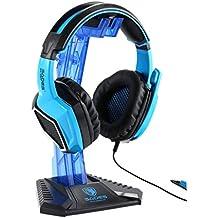 SADES Universal Multifunción Gaming Auriculares Suspensión Escritorio Auriculares Soporte Titular Estante de exhibición