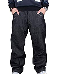 Pantaloni Denim da Uomo Exquisite Classic Vintage Ragazzo Jeans Urban  Pantaloni Larghi Hip Hop Danza Pantaloni 6780d822dda6