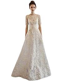 Abito da Sposa Elegante Una Spalla Bianco Semplice Abito da Sera a Maniche  Lunghe Ailin Home a9eee193b24
