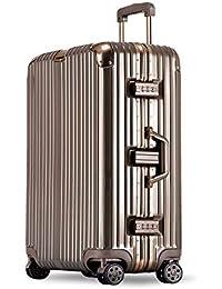 27e182219 YCYHMYF - Maleta con Ruedas para Equipaje (Aluminio), plástico abs, Dorado,