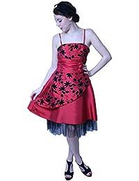 ROBLORA,Robe De Cérémonie Soirée Cocktail Mariage Robe Demoiselle D'honneur Baby002N, Rouge, 48/50 - XXXL