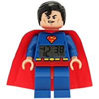 LEGO Despertador con luz Infantil con figurita de Supermán DC Comics 9005701 Super Heroes