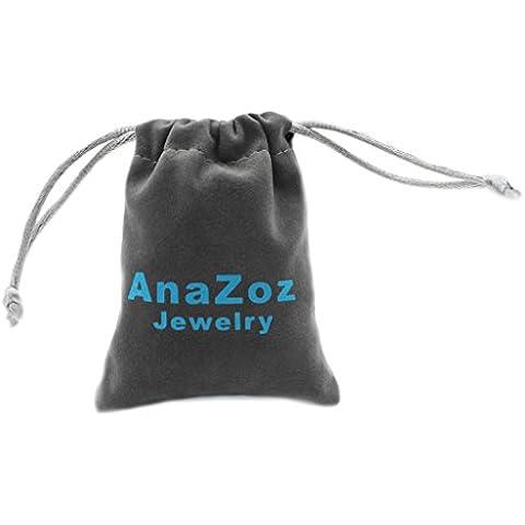 AnaZoz Joyería de Moda 18K Oro y Chapado en Plata Anillo de Pareja Para Hombre y Mujer Amante Tamaño 6,75-33
