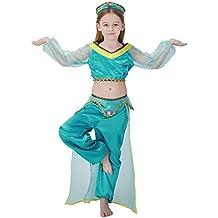 Free Fisher Disfraz de Princesa Arabe Para Niñas Cosplay Halloween Carnaval Traje de Danza de Vientre Danza de India