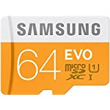Samsung Carte mémoire Micro SD/SDXC classe 10 UHS-I jusqu'à 48 Mb/s avec adaptateur 64 Go