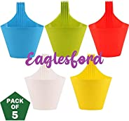 EaglesFord Plastic Hanging Vertical Hook ,Multicolor Pack of 5
