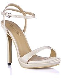 CHMILE CHAU-Scarpe da Donna-Sandali Tacco Alto a Spillo-Nuziale-Sposa 3bc4747d7f7