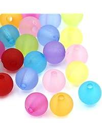 100 Bunt Perlensortiment Plastik Perle Angel Perlen Rund Perlen Kör  s