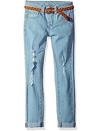 Kensie Girls' Skinny Fit Jean with Braided Belt