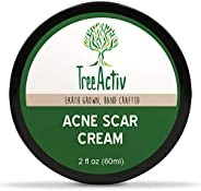 TreeActiv Acne Scar Cream | Fade Away Pimple Marks, Blemishes & Dark Spots | Reduces the Appearance of Old & New Scars | Ros