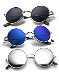 861070ba14c Amazon.in  Round - Sunglasses  Clothing   Accessories