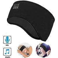 E-More Cuffie per Dormire Bluetooth Sonno Cuffie Fascia Sportiva con Ultra Sottili HD Stereo Altoparlanti,Perfette per Sport, Traversine Laterali, Viaggi Aerei, Meditazione e Relax