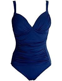 Maillot de bain 1 une pièce femme monokini - 4 couleurs - du 40 au 54